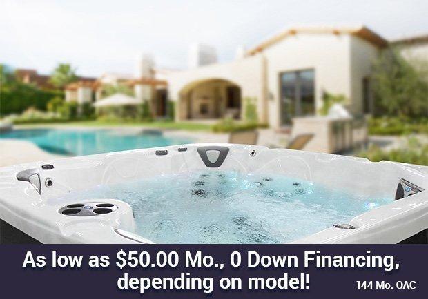 As low as $50.00 Mo., 0 Down Financing, depending on model! 144 mo. OAC
